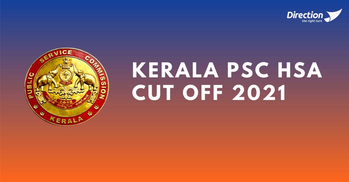 Kerala PSC HSA Cut Off 2021