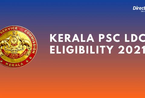 Kerala PSC LDC Eligibility 2021