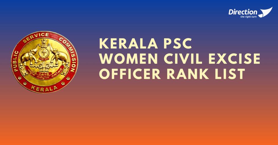 Women Civil Excise Officer Rank List