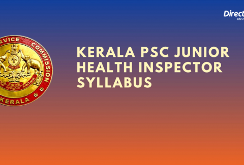 Kerala PSC Junior Health Inspector Grade 2 Syllabus