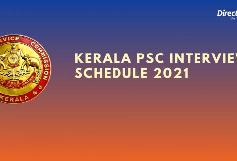 Kerala PSC July & August Interview Schedule 2021