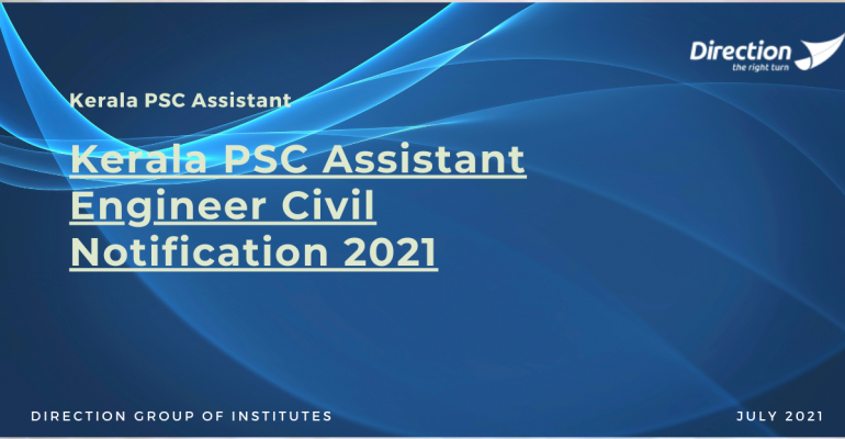 Kerala PSC Assistant Engineer Civil Notification 2021