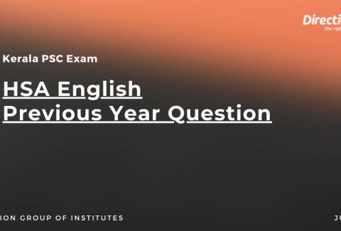 HSA English Previous Year Question