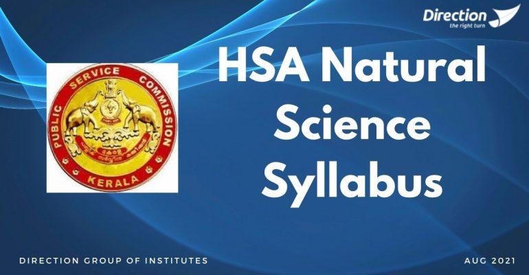HSA Natural Science Syllabus