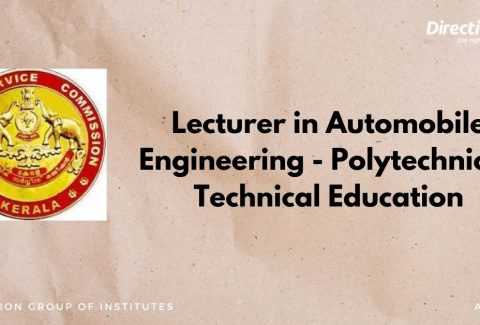 Lecturer in Automobile Engineering - Polytechnics - Technical Education (1)