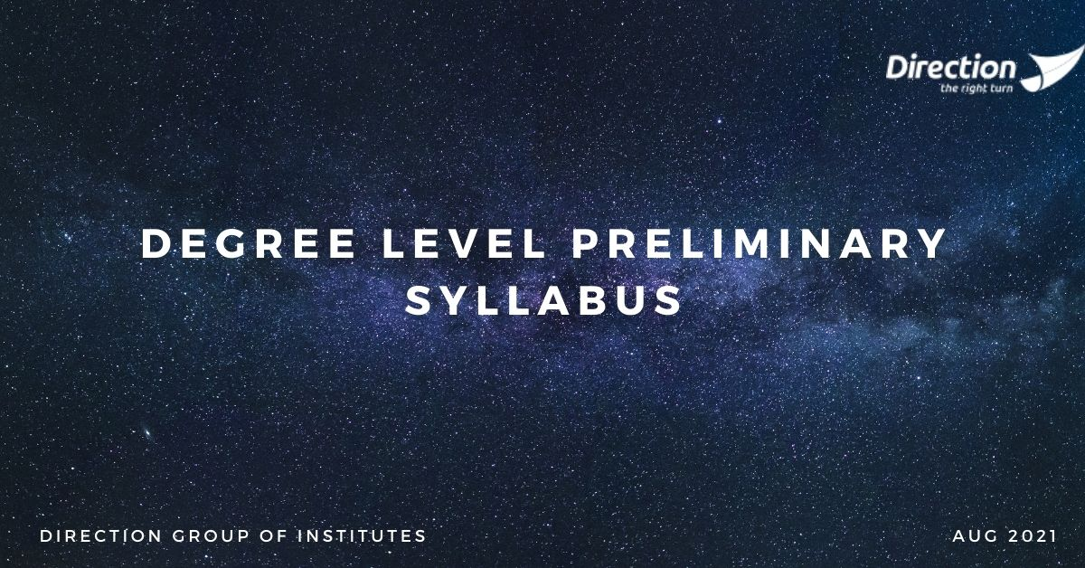Degree Level Preliminary Syllabus (1)